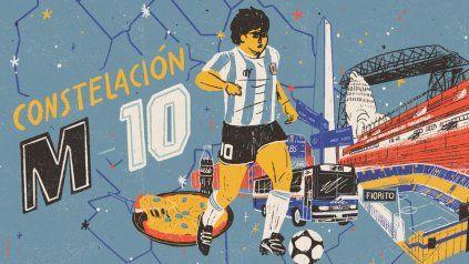Constelación M-10 consiste en cuatro capítulos de audio sobre la vida de Maradona.