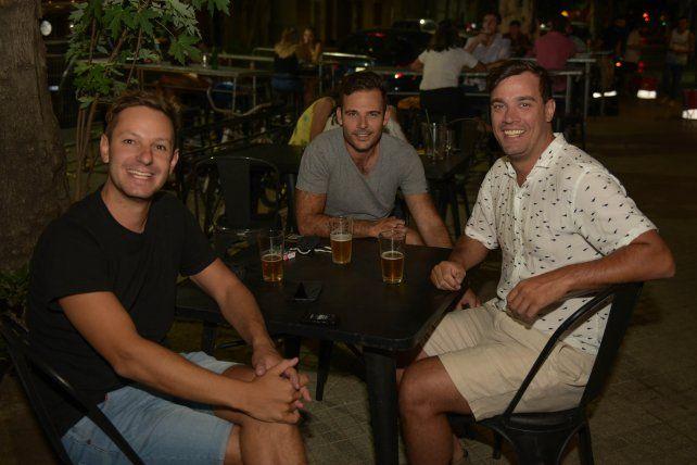 Leo Buffa, Cristopher Schmidt y Diego Primo