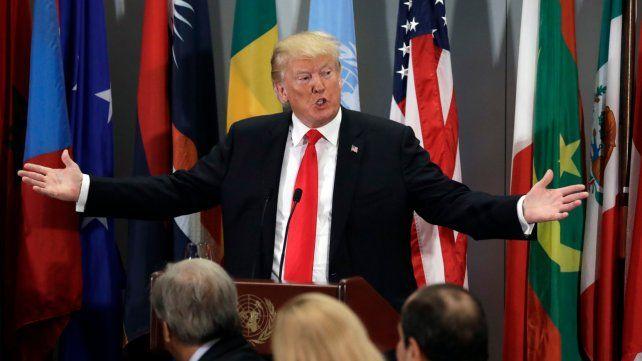 Inigualable. Donald Trump fue todo un showman ayer en la asamblea de la ONU celebrada en Nueva York.