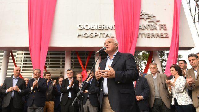 En 2017 Lifschitz reinauguró los hospitales de Santa Fe, Gutiérrez de Venado Tuerto (foto) y Ceres.