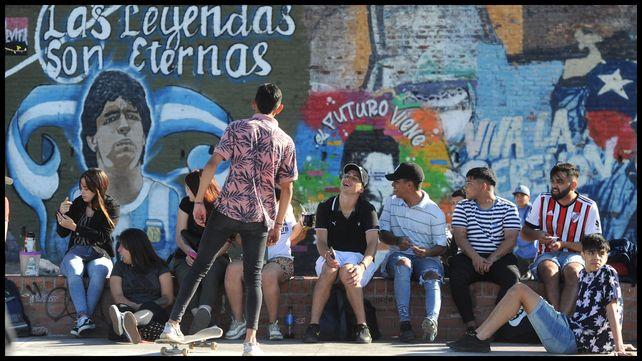 Estudiantes de toda la ciudad se dieron cita en el Parque España.