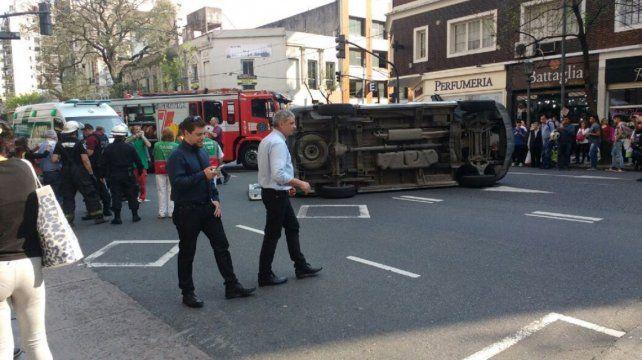 El accidente se produjo esta tarde en el barrio Congreso.