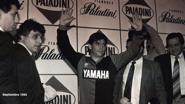 Diego Maradona llega a Newell