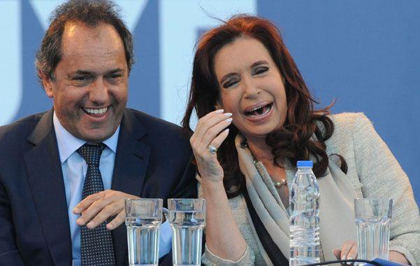 Gestos y risas. Scioli está lanzado para suceder a Cristina en 2015 y presentarse como el candidato del oficialismo.