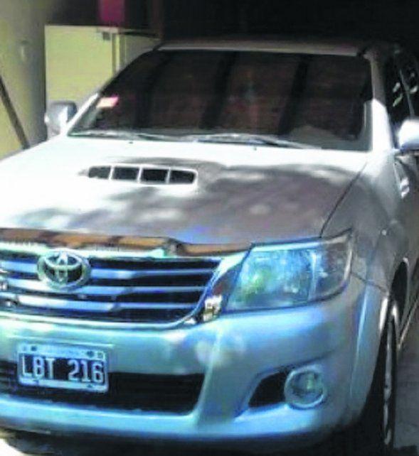Toyota. Uno de los vehículos secuestrados al prófugo Luis Gordo Saucedo.