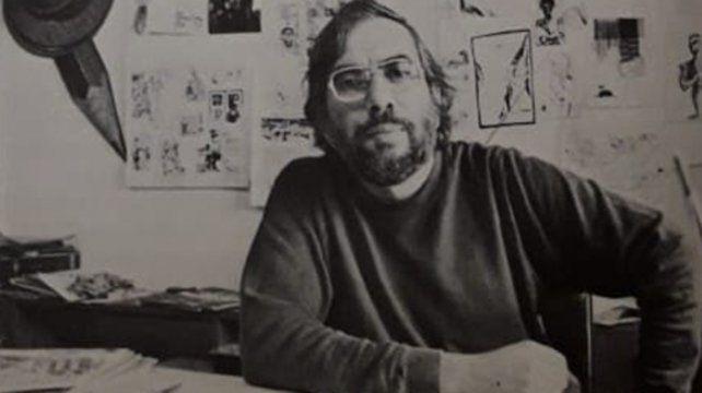 Manuel Aranda retratado por la revista Vasto Mundo a fines del año 1987.