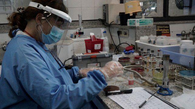 El laboratorio del hospital Carrasco sigue siendo el lugar que más hisopados realiza en la ciudad de Rosario.