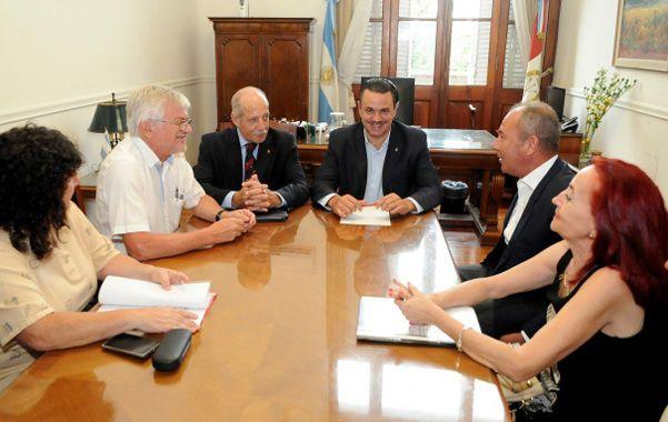 Los ministros Sciara y Galassi recibieron a dirigentes de ATE y UPCN.