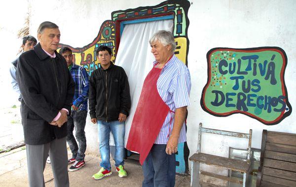 Binner visitó hoy la huerta Rosarina Linda