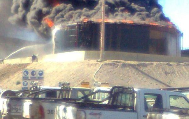 Cerro Divisadero. La planta de tratamiento ardió este fin de semana.