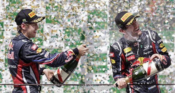 Webber cerró en Brasil el año de la Fórmula Uno con su primer triunfo