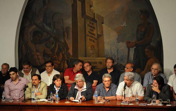 Los líderes sindicales