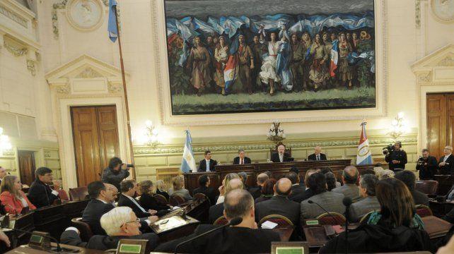 Lifschitz abre por primera vez como gobernador el 1º de abril de 2016 las sesiones de la Legislatura santafesina.