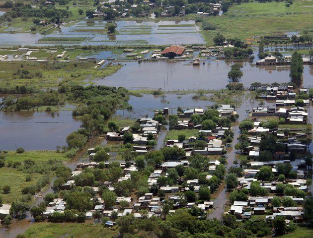 Una de las últimas inundaciones en la provincia de santa Fe.