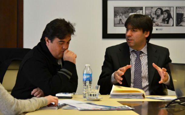 Transparencia. El fiscal Guillermo Marijuan y Diego Bossio
