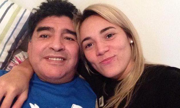 Rocío Oliva y Diego Maradona juntos este fin de semana.