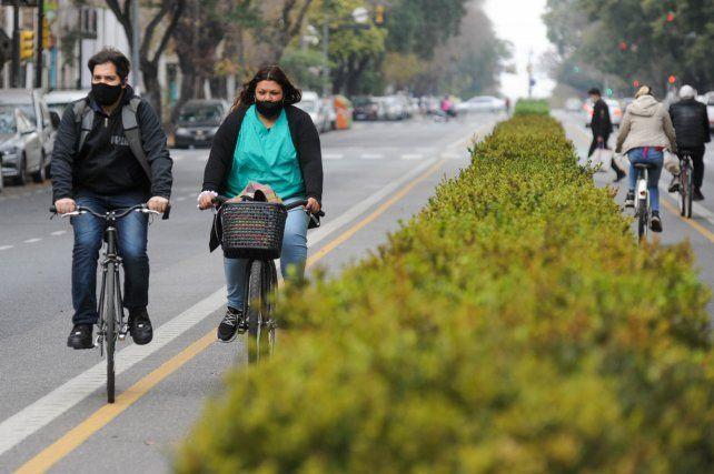 Cada vez más rosarinos utilizan las ciclovías