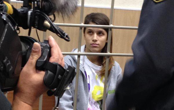 Presa. Camila durante la audiencia de ayer en el tribunal ruso.