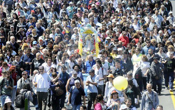 Multitudinaria. Esta trigésimo novena edición de la marcha juvenil fue la más numerosa.