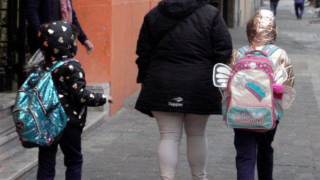 Los chicos y chicas del nivel primario volvieron a las escuelas ayer lunes.