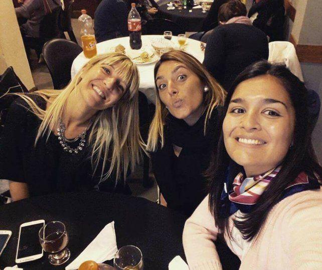 Rafaela Massolo con Vanesa Díaz y Nadia Urbizaglia