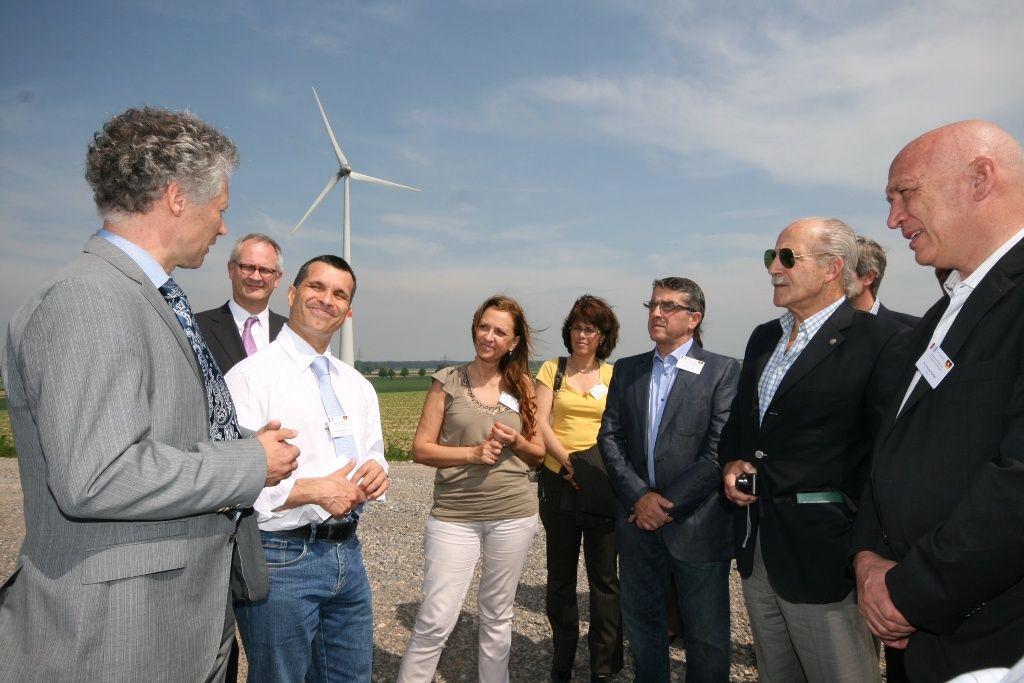 Bonfatti visitó una planta modelo de producción de energía eólica en Alemania.
