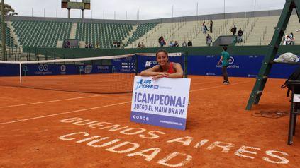 Jazmín Ortenzi jugará su primer torneo WTA.