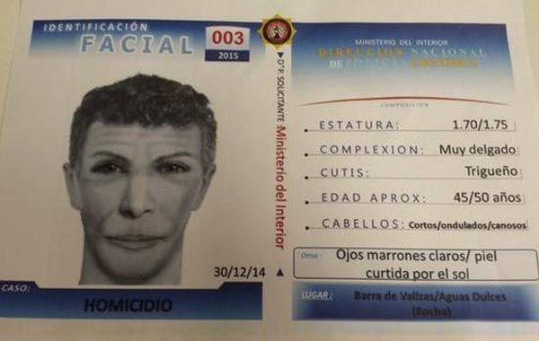 El nuevo identikit del sospechoso del crimen de Lola que difundió el ministerio del Interior uruguayo.
