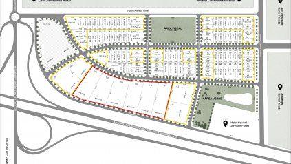 El plano del proyecto comercial que se levantará en Funes.