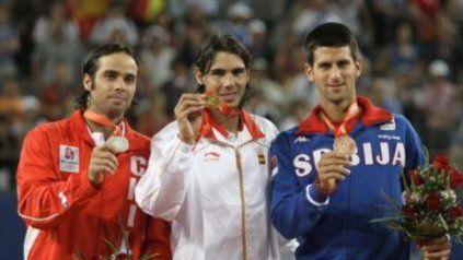 Djokovic se quedó con el bronce en Beijing 2008 (perdió en semifinales con el español Rafael Nadal, luego campeón al vencer al chileno Fernando González).