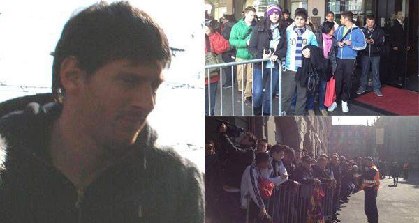 Llegó Messi a Berna y desató el carnaval suizo