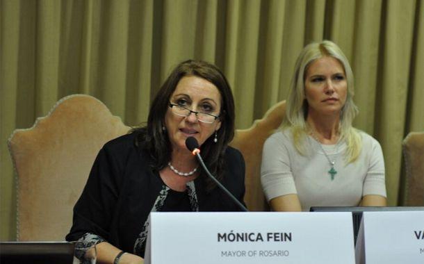 La intendenta brindó su discurso pasadas las 10.30 de la Argentina.