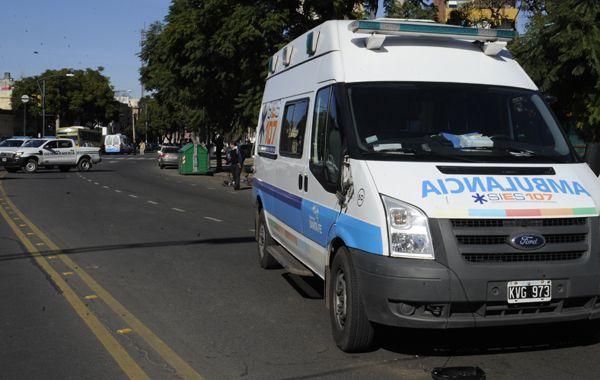 Las ambulancias del Sies trasladaron a los heridos. (Foto de archivo)