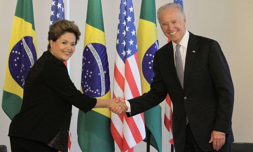 Recepción. El vice de Obama se reunió con Dilma durante una hora y media.
