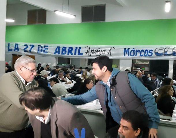 Marcos Cleri se reunió con la militancia en el club Sportsmen Unidos.
