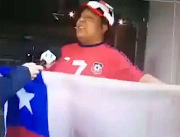 Un hincha chileno viajó para ver jugar a la Roja y le erró de sede por 1.700 kilómetros
