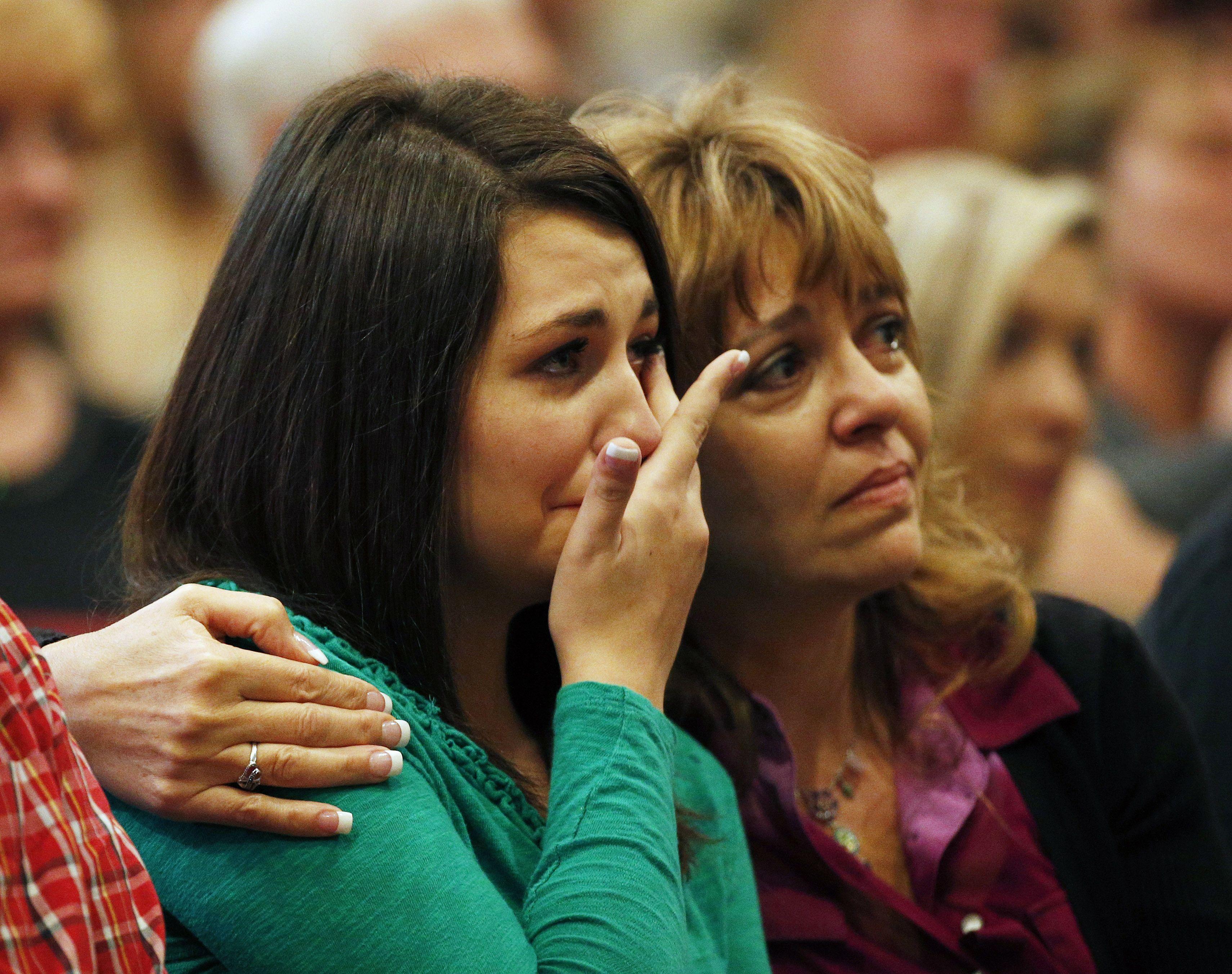 duelo. Ayer la pequeña comunidad de Roseburg lloró a sus muertos.