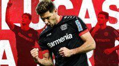 Lucas Alario recibió muchos elogios del DT de Bayer Leverkusen.