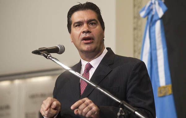 Intereses. Capitanich dijo que la denuncia por el acuerdo con Chevron busca afectar el interés de la Argentina.