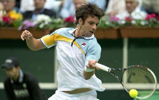 Aprobado. Horacio Zeballos fue el mejor del dobles el sábado y ayer cumplió una buena actuación ganándole a Lukas Rosol.