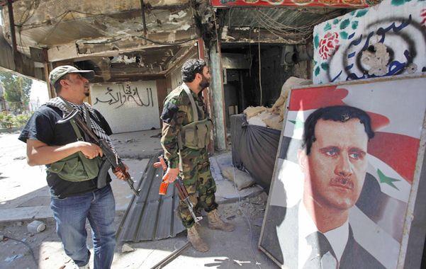 La guerra civil. Fuerzas leales al régimen sirio mantienen posiciones defensivas en las inmediaciones de Damasco.