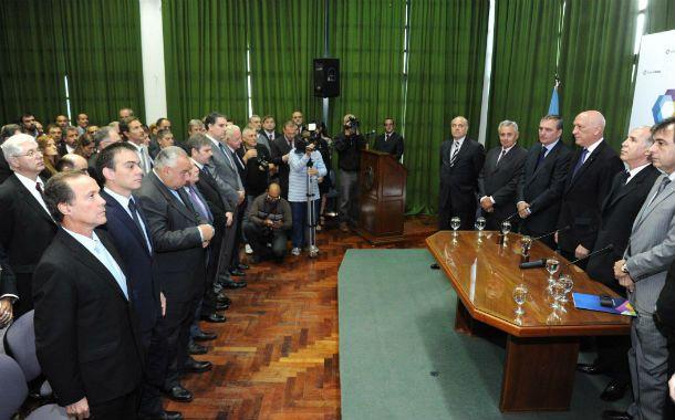 El acto. Las autoridades ponderaron la creación del nuevo juzgado y hablaron del combate contra el narcotráfico.