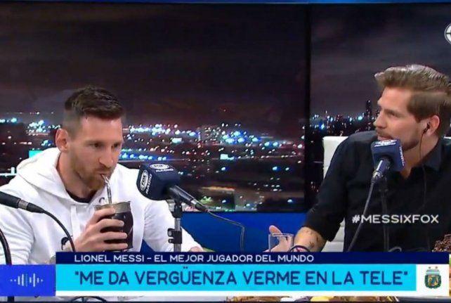 Un Messi distendido confesó que no le gusta verse en la TV ni mirar sus partidos. Me da vergüenza