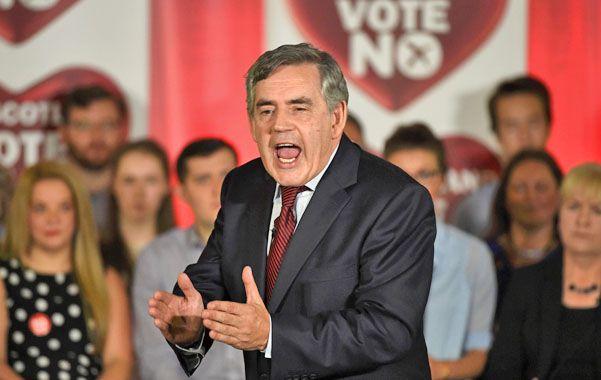 """Figura clave. El ex premier laborista Gordon Brown fue fundamental para el triunfo del """"no""""."""