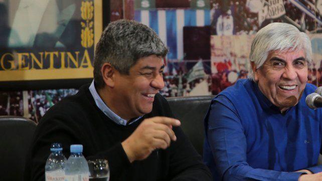Pablo Moyano y su padre