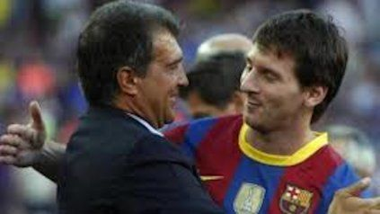 """Laporta confesó sentirse """"muy tranquilo de poder hablar con Messi"""" para negociar su permanencia en el club."""
