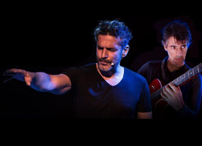En acción. Leonardo Sbaraglia y Fernando Tarrés encabezan el espectáculo El territorio del poder