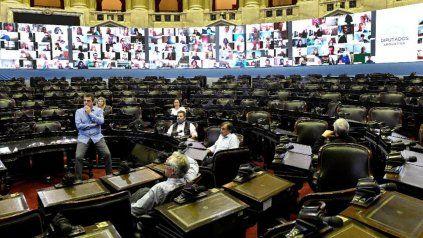 El presidente de la Cámara de Diputados, Sergio Massa, durante un encuentro informal en el recinto.