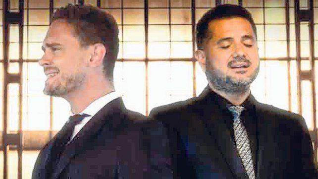 """buena dupla. Elías y Jorge Rojas cantan juntos """"Entre nosotros""""."""