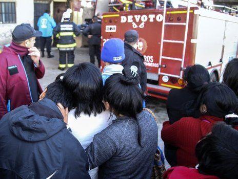 espeluznante. La familia murió en el incendio del conventillo de La Boca.